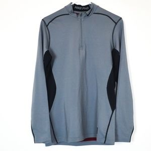 Nike Pro Dri Fit Medium Fitted Pullover Gray